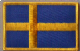 Sweden Embroidered Flag Patch, style 08.